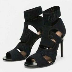 Zara Black Sock Heels Women's Size 5 New